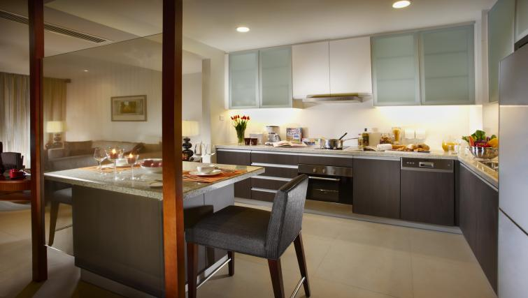 Fully equipped kitchen at Oakwood Residence Shanghai - Citybase Apartments