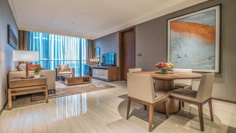 Dining table at Oakwood Residence Damei Beijing - Citybase Apartments