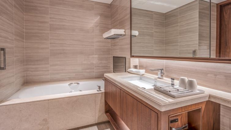 Immaculate bathroom at Oakwood Residence Damei Beijing - Citybase Apartments
