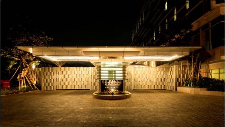 Main entrance at Oakwood Apartments La Maison Jakarta - Citybase Apartments