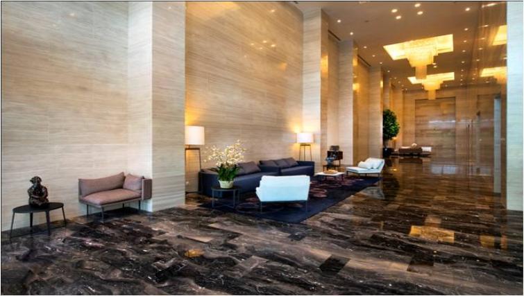 Large lobby area at Oakwood Apartments La Maison Jakarta - Citybase Apartments
