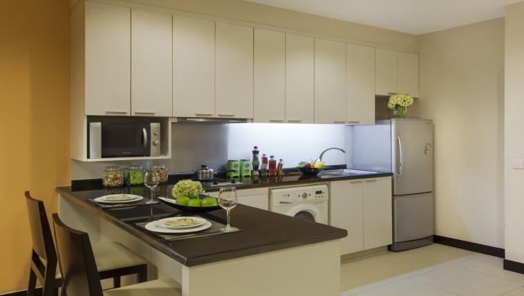 Basic kitchenette at Somerset Hoa Binh Apartments - Citybase Apartments