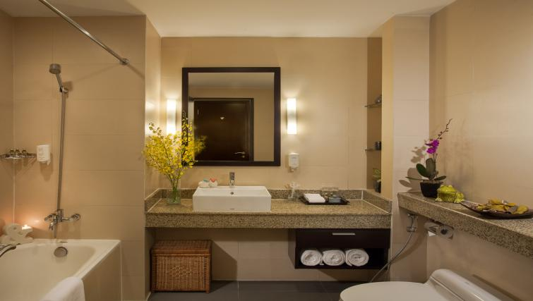 Pristine bathroom at Somerset Hoa Binh Apartments - Citybase Apartments