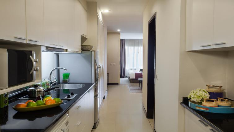 Modern kitchenette at Somerset Hoa Binh Apartments - Citybase Apartments