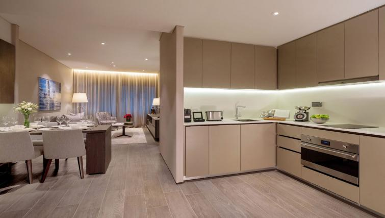 Modern kitchen at Oakwood Premier OUE Apartments, Singapore - Citybase Apartments
