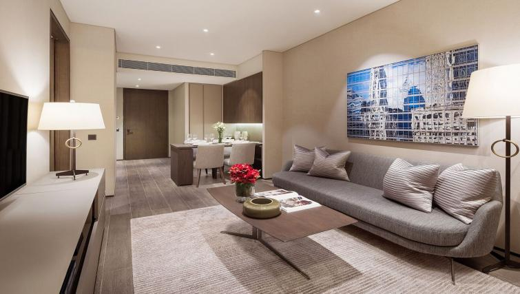 Living room at Oakwood Premier OUE Apartments, Singapore - Citybase Apartments
