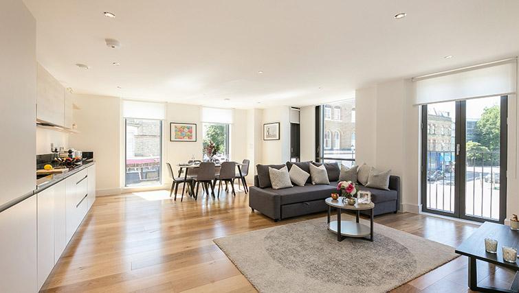 Living area at Urban Chic Portobello Apartments - Citybase Apartments