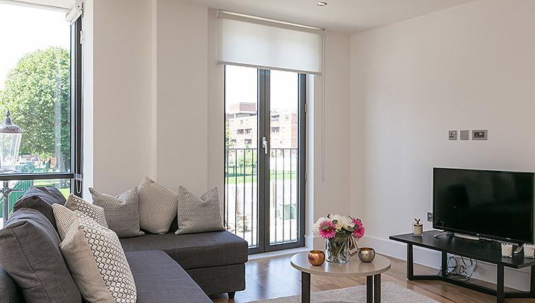 Sofa at Urban Chic Portobello Apartments - Citybase Apartments