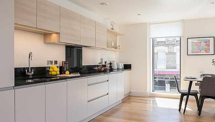 Kitchen at Urban Chic Portobello Apartments - Citybase Apartments