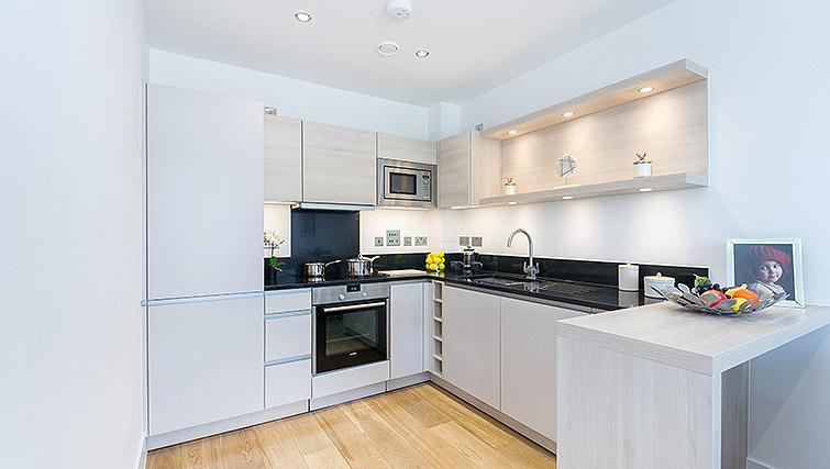 Equipped kitchen at Urban Chic Portobello Apartments - Citybase Apartments
