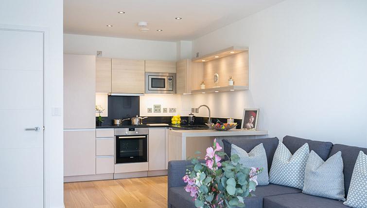 Modern kitchen at Urban Chic Portobello Apartments - Citybase Apartments